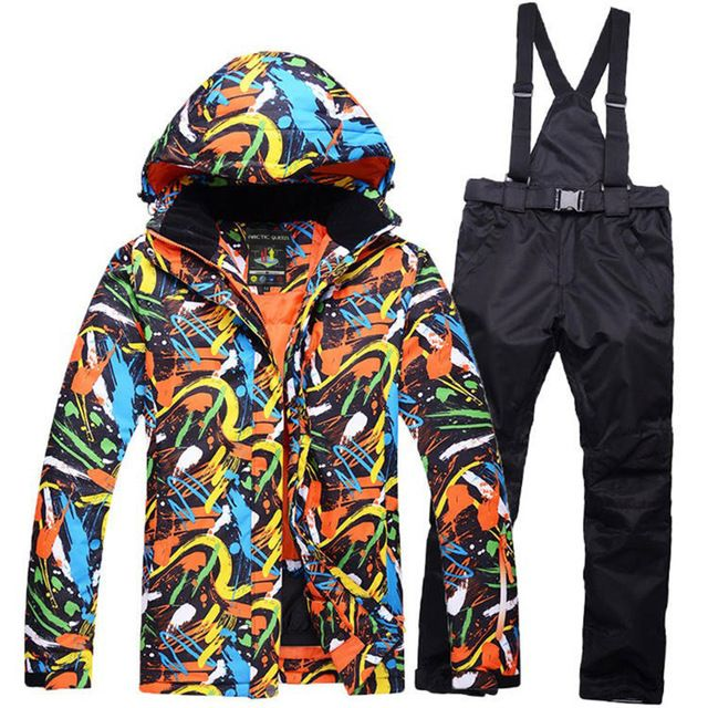Sale Today $69.24, Buy -30 MENs skiing suit sets snowboarding clothes waterproof & windproof winter snow costumes outdoor ski jackets + Suspended Pants