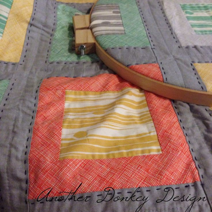 Hand quilting by anotherdonkeydesign.com.au
