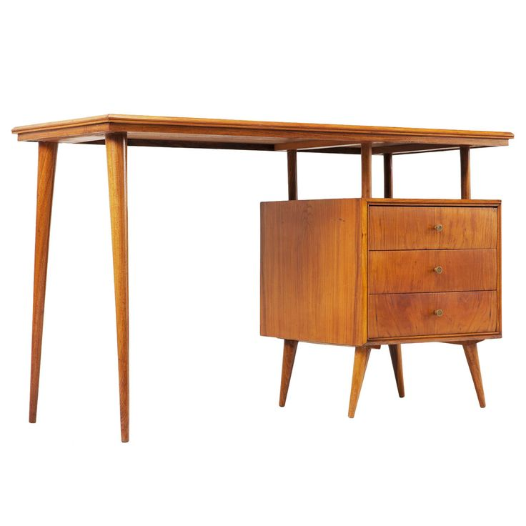 Highly rare 'Bossa nova' desk, Brazil 1950's, (part of complete suite) | From a unique collection of antique and modern desks at http://www.1stdibs.com/furniture/storage-case-pieces/desks/