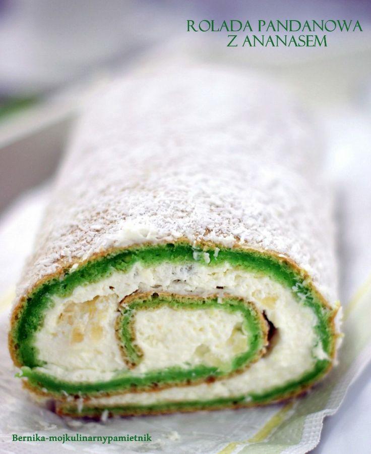 swiss roll with pandan