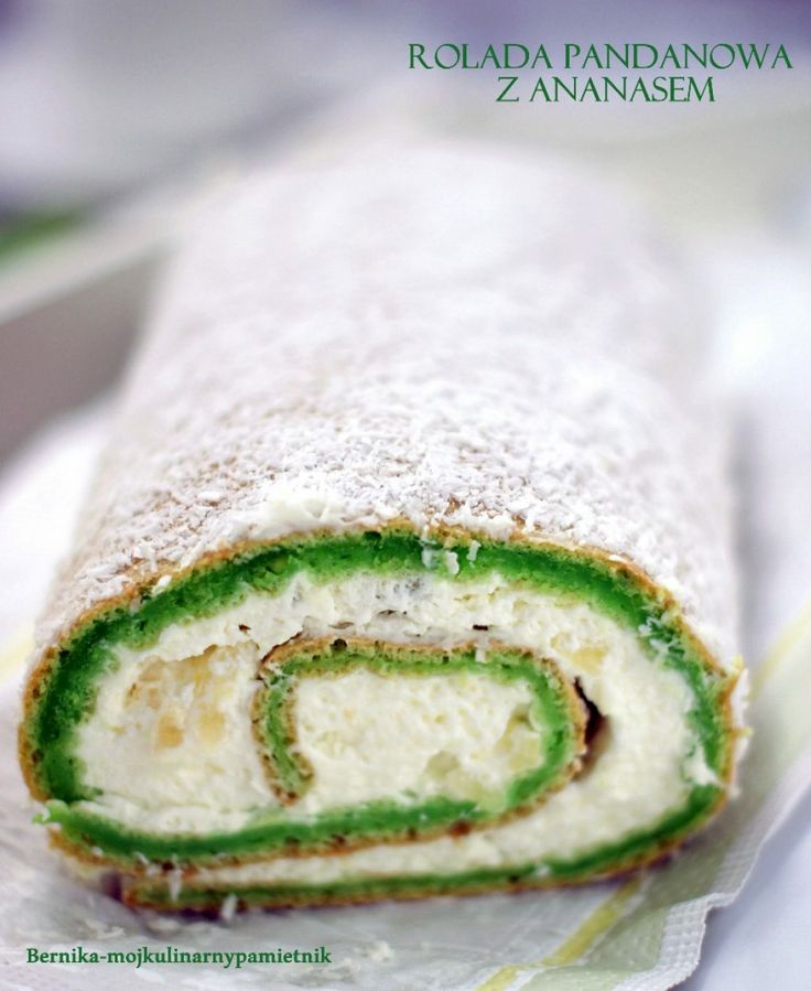 swiss roll with pandan