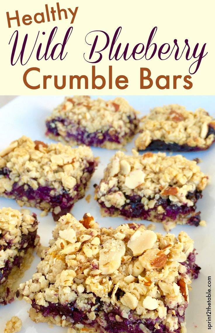 Healthy Wild Blueberry Crumble Bars Recipe