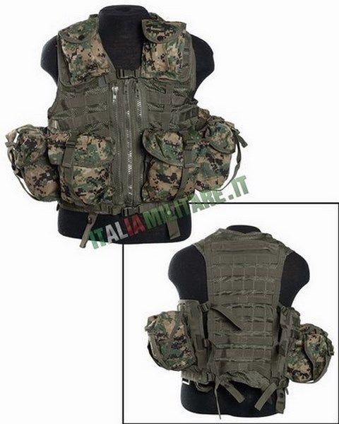 Gilet Tattico 8 Tasche Staccabili Modulari Marpat