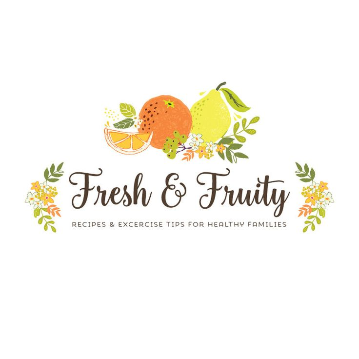 Premade Logo - Fruit Premade Logo Design - Customized with Your Business Name!