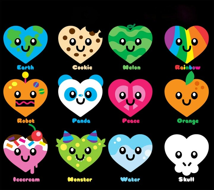 jewelry online shopping Cute hearts  easy to draw