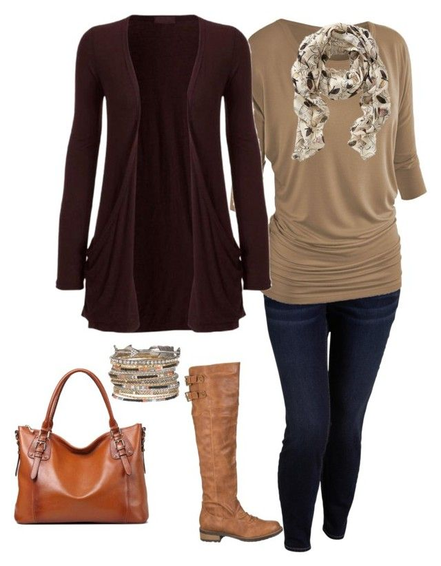 """Plus Size Fall Outfit, Plus Size Fashion"" by jmc6115 on Polyvore featuring Old Navy and maurices"
