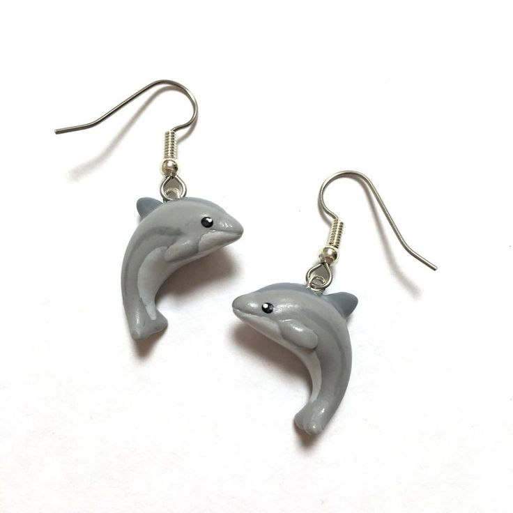 30mm Silver Yellow Plated Dolphins Charm