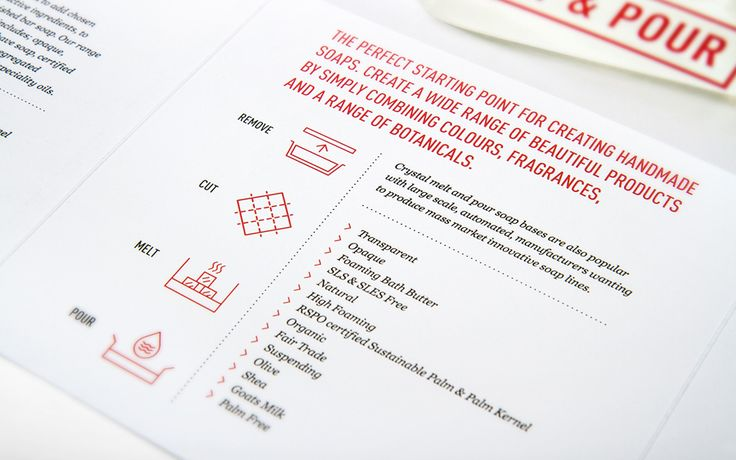Print designed by Robot Food for UK soap base specialist Stephenson Personal Care