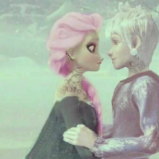 Punked Jelsa (credit to @Madeliene Lowe Lowe Lowe Lowe Lowe Lowe) I DONT SHIP THEM but this   Is cute