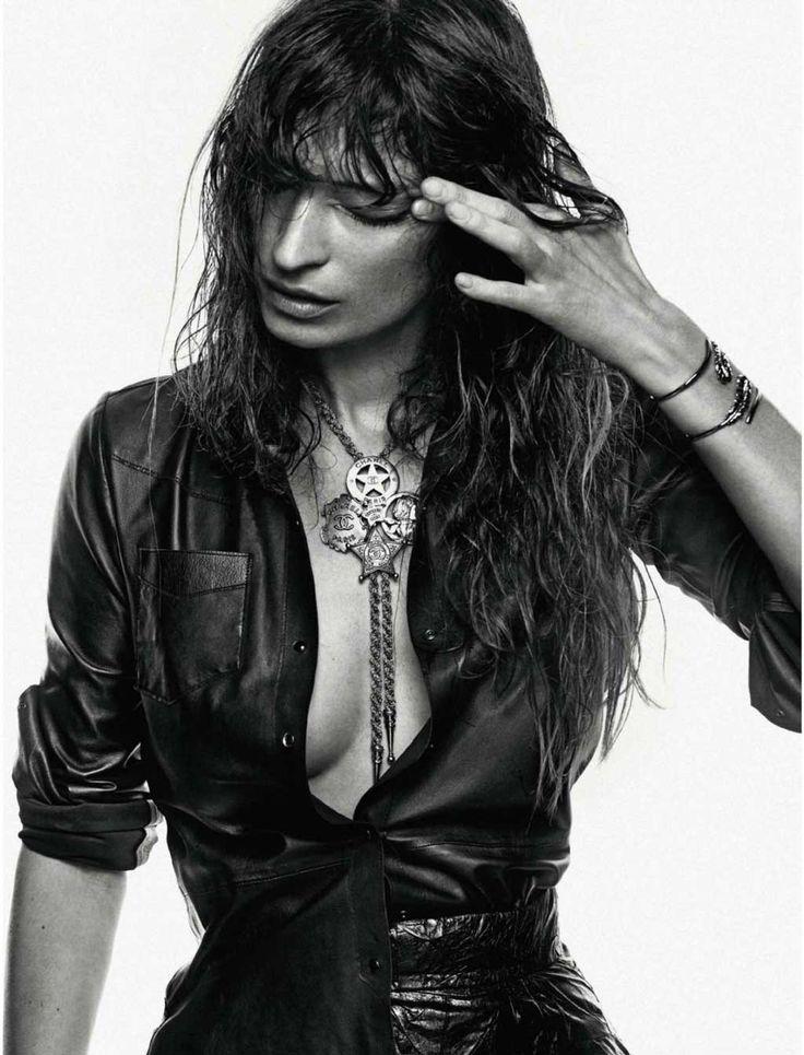 Caroline de Maigret Rocks Denim for Elle Spain