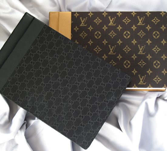 Fashion Fabrics are specialty covers with a designer flare. Authentic Louis Vuitton® and Gucci® fabrics are paired with distinctive leathers to create an end-to-end fashion album for your label-loving clients.  See to believe at PhotoPlus Expo NYC Oct 30 - Nov 1, 2014. Finao booth 945 #PPE14 #Wedding #Photography #Album