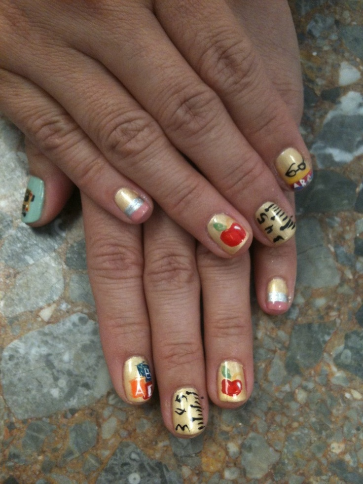 24 best back to school nail art images on Pinterest | School nail ...