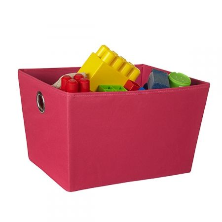 Storage Tote Large - Fuchsia Whether you're looking for storage to house toys in a child's playroom, need a little extra storage in your wardrobe, living room, office or bathroom our soft storage totes with chrome handles are a contemporary, well designed option. Available from Howards Storage World.  #howardsstorage #christmaswishlist