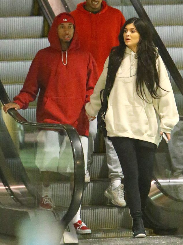 Friday night was date night for officially on-again couple Kylie Jenner and Tyga. The 18-year-old...