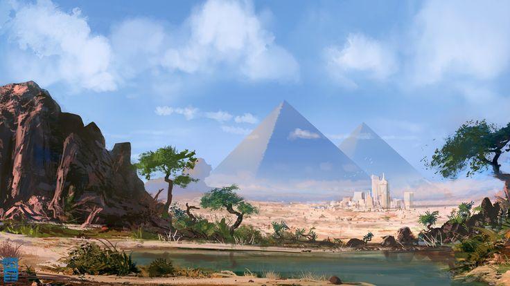New Age Pyramids. Illustrating pyramids of the future.  -Joshua Hutchinson