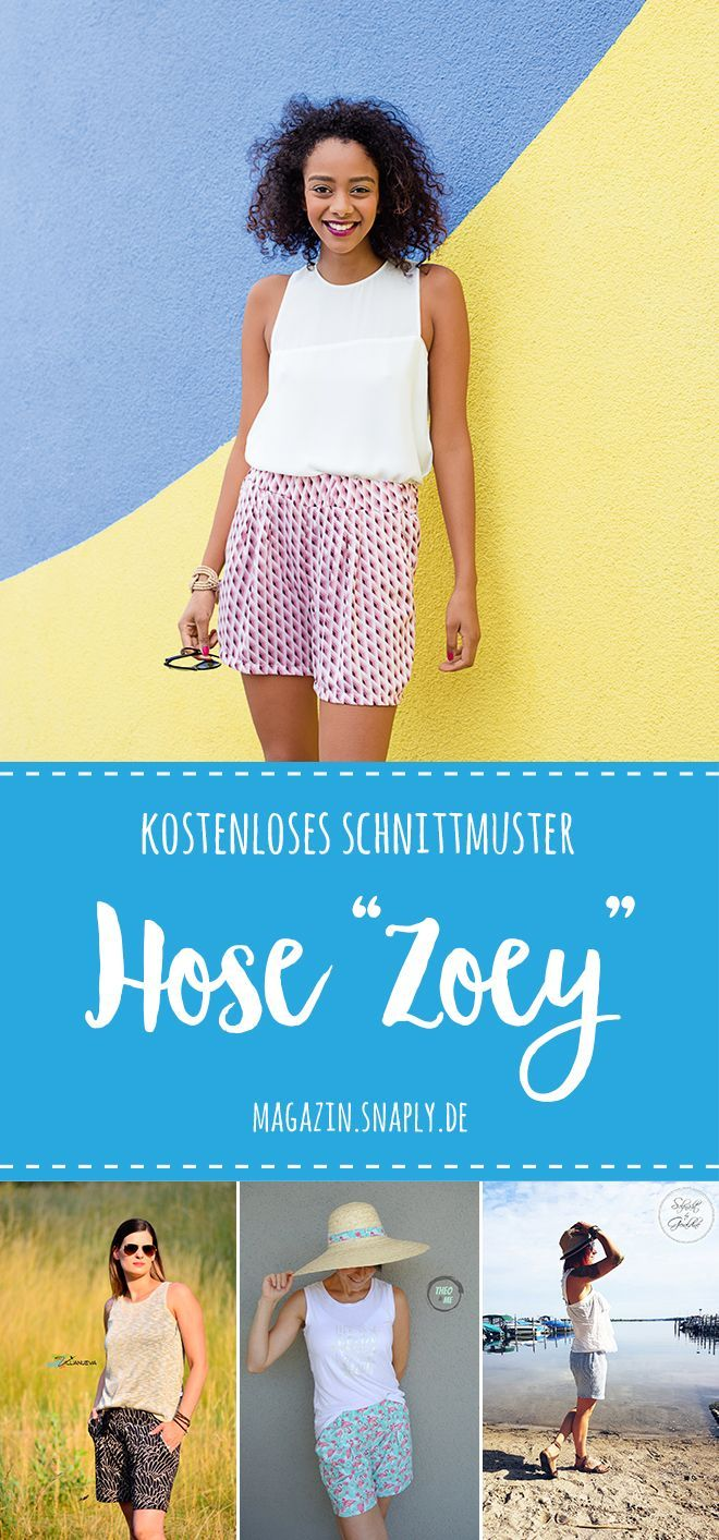 "Ladies Shorts ""Zoey"" – free sewing pattern & sewing instructions"