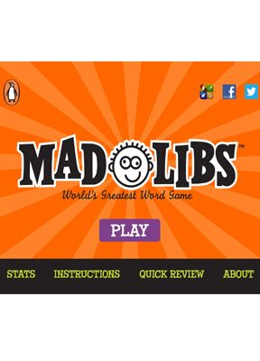 Great for teaching grammar and making it FUN! Also mad libs for Adults.