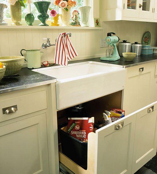 Under Sink, Vintage Kitchen And Cabinets On Pinterest