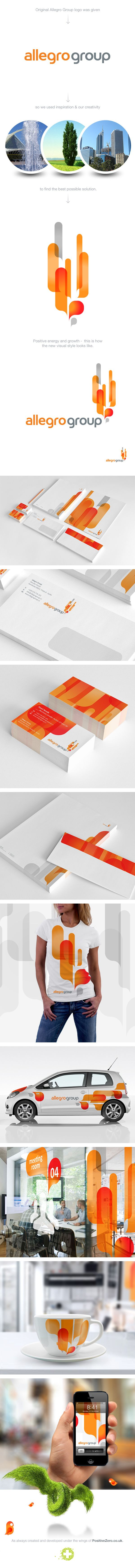 Allegro Group - #CorporateIdentity by PositiveZero.co.uk, via #Behance #Branding