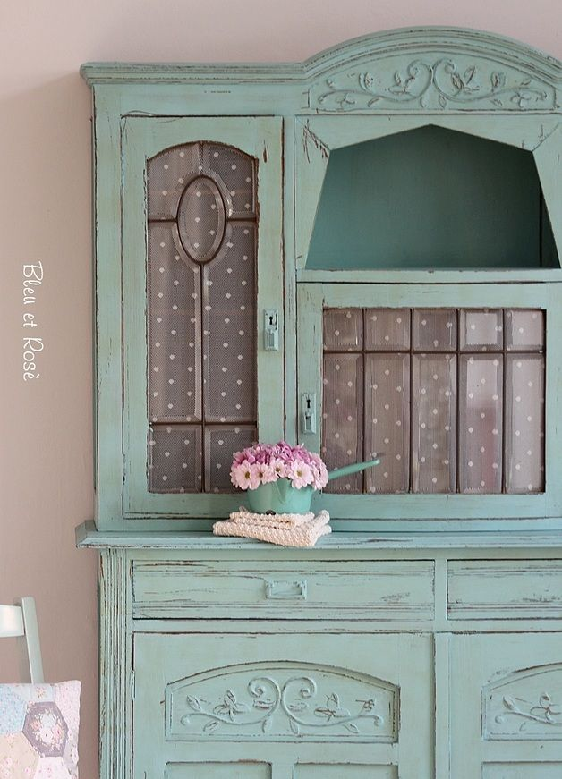 Vintage Buffetschrank Jugendstil Schrank In Türkis | Cottage Chic Iii In 2019