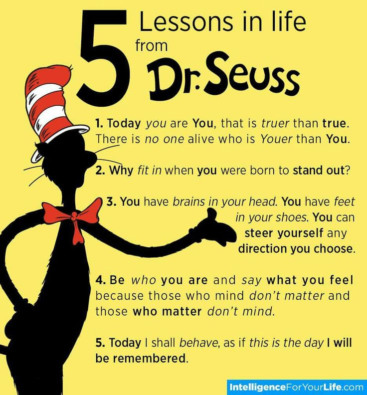 Quotes On Life Lessons For Teenagers: 5 Dr. Seuss Life Lessons