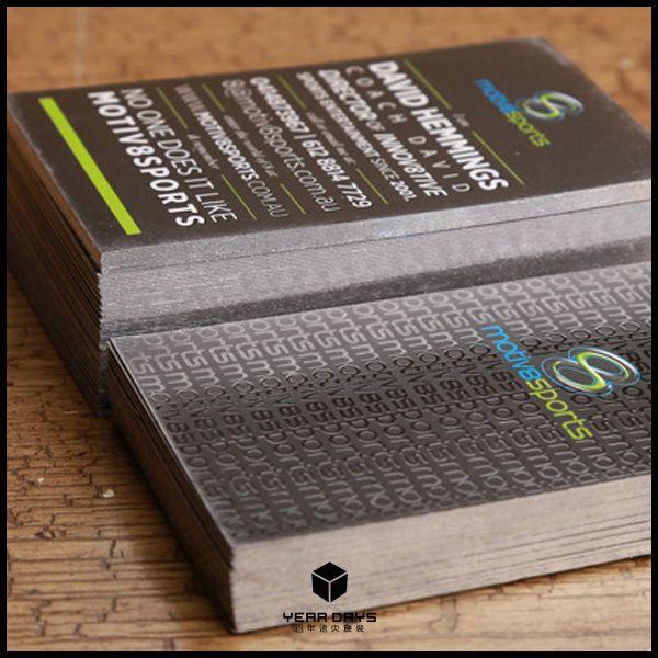 Личность голографическая уф визитки CMYK печать пластиковой мокрые индивидуальные визитная карточка / имя карты толщиной 600 GSM черный бумага искусства