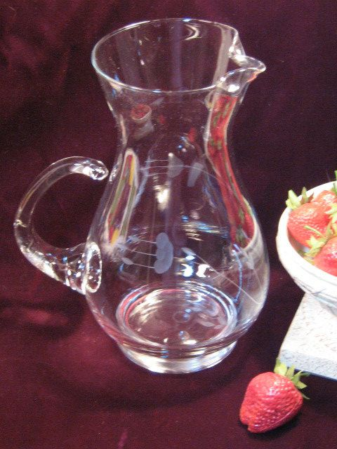 Vintage Princess House Crystal Heritage Pitcher 72 by havetohaveit, $34.99