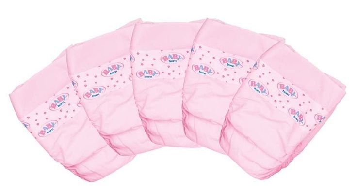 Baby Born DOLLS Pink Nappies Zapf Creation 5 Nappy Pack New 815816 | Dolls & Bears, Dolls, Clothing & Accessories, Baby Dolls & Accessories | eBay!