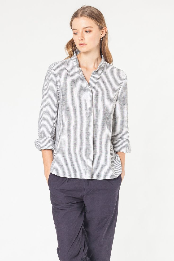STILL L/S SHIRT STRIPE - SHIRTS - SHOP WOMENS Assembly Label