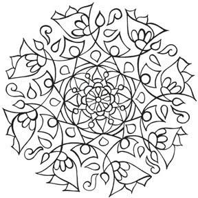 Eye Pop Art mandala coloring pages