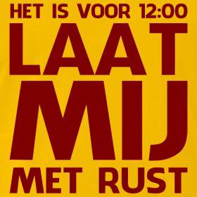 Shirt voor 'ochtendmensen'   Humorshirts.nl   De allerleukste, gekke, funny T-shirts voor de zomer!