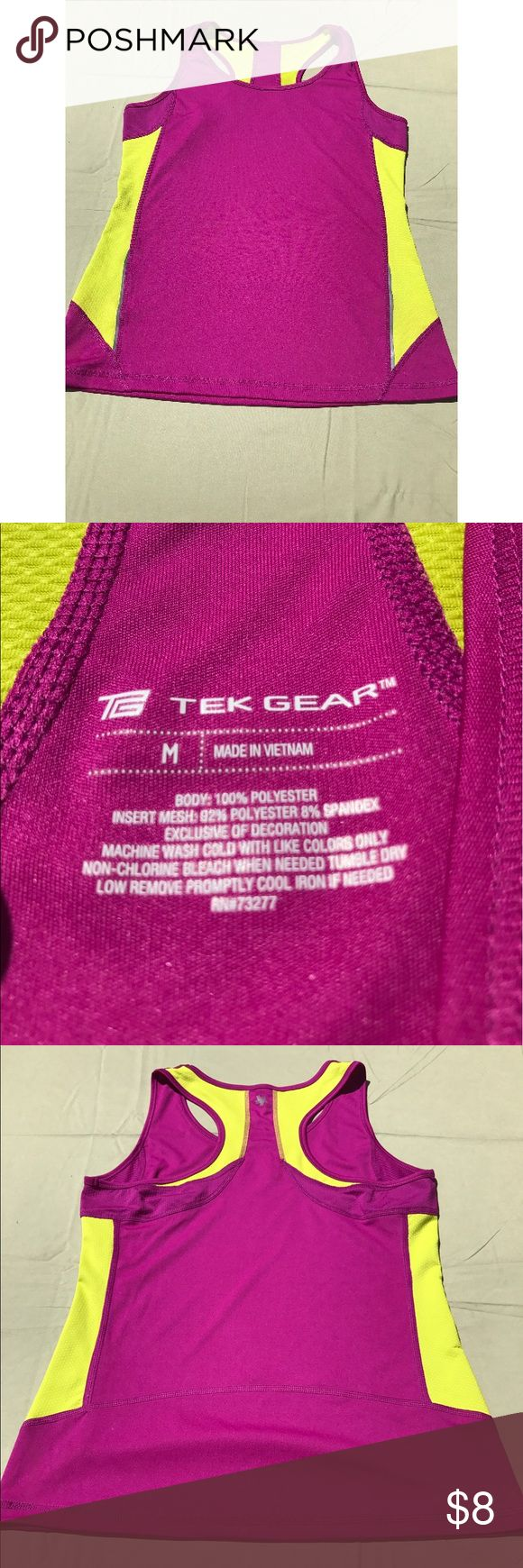 SPRING FITNESS SALE Athletic top size medium Loose fitting pink athletic top perfect for hiking or working out. Lightly used. Open to reasonable offers! tek gear Tops