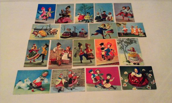#Set #Lot 18 #vintage #Ethnic $russian #postcards #JustSweetHoney @Etsy #Collectible #Series Russian #souvenir #Dolls #natsinalnyh ethnic Russian #costumes #Artist #signed #dravings #Children #Postcard #folk #toy #Doll #USSR #SovietUnion #madeinUSSR #Russianfolk #dances Russian #folklore  doll #Yakuts #ethnos #Paper #giftforhim #giftforher #sale #GIFT #giftidea