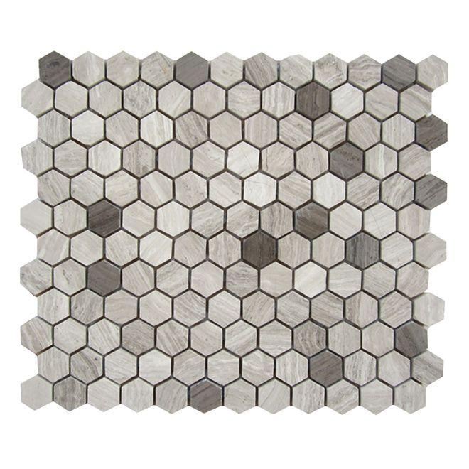 Mosaïque de marbre «Hexagone»