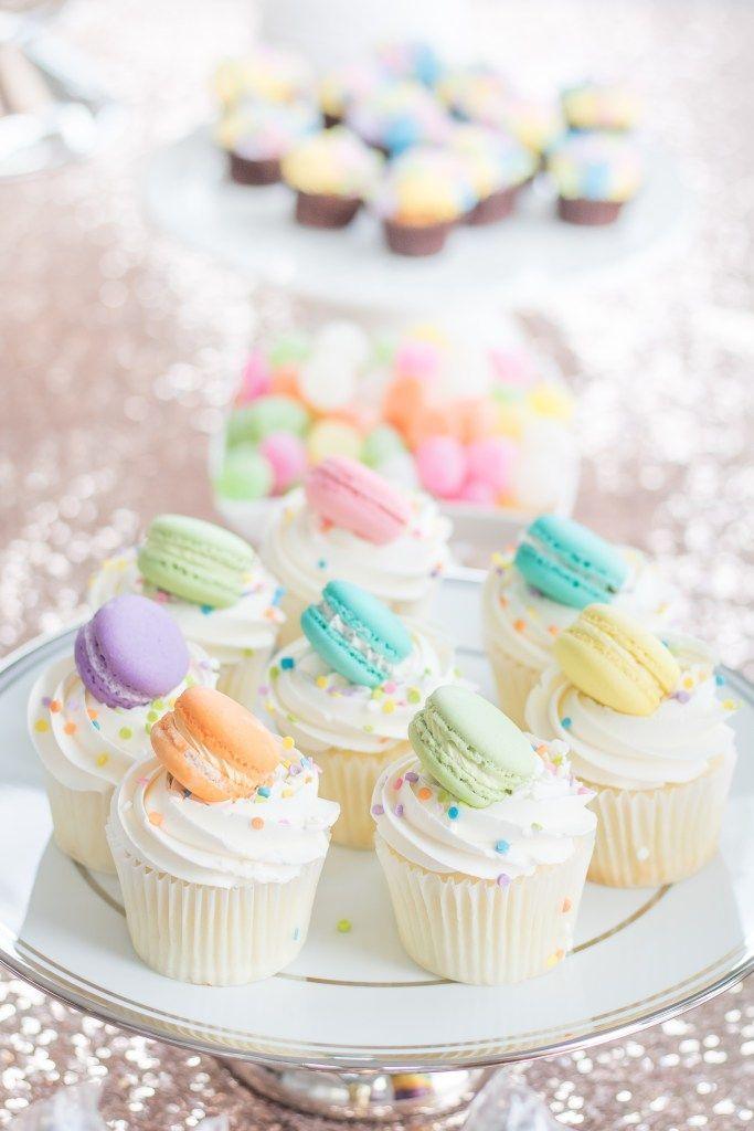 Pink And Gold Glitter 1st Birthday Giant Cupcake Cake Cupcake