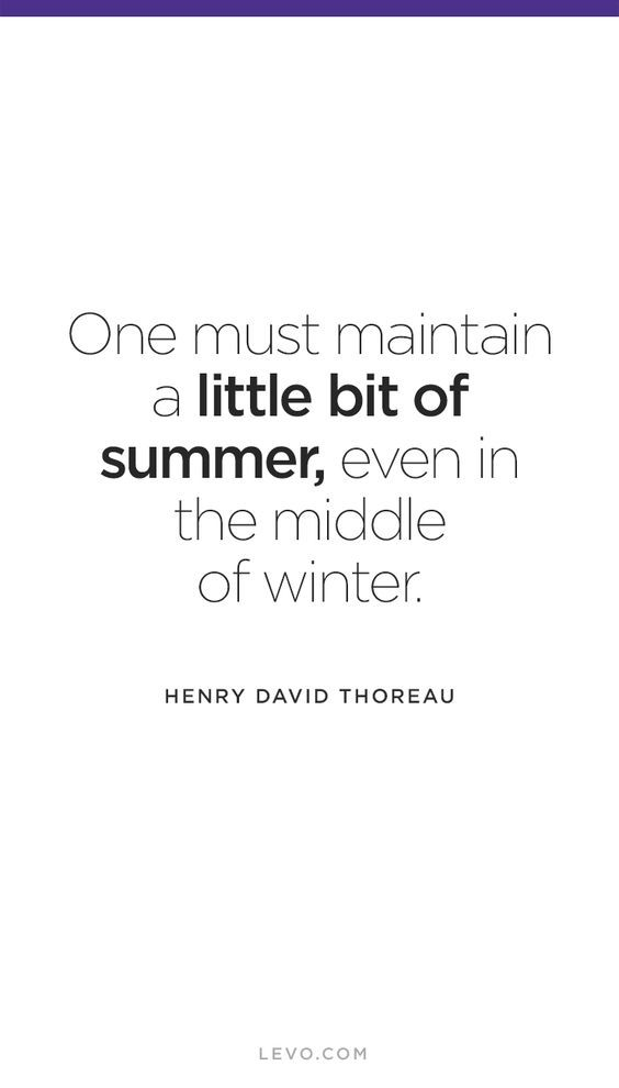 Think warm thoughts this winter