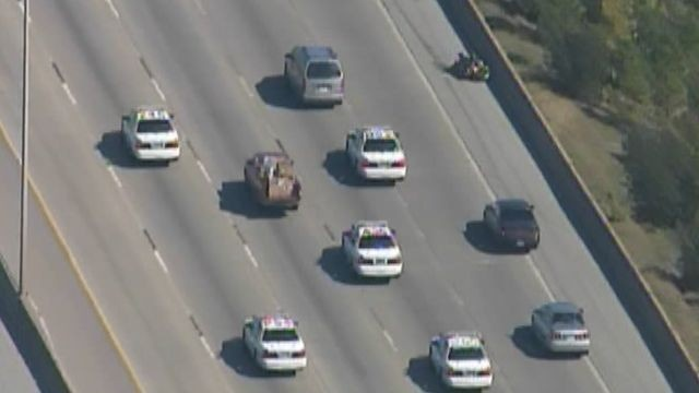 Bank robbery suspects lead police from one side of Houston to the other in a nearly hour-long chase.