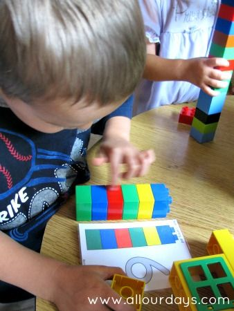 Duplo Tower Matching, counting and fine motor control, extension by using lego.