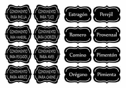 etiquetas - stickers - calcos autoadhesivos frascos-alacena