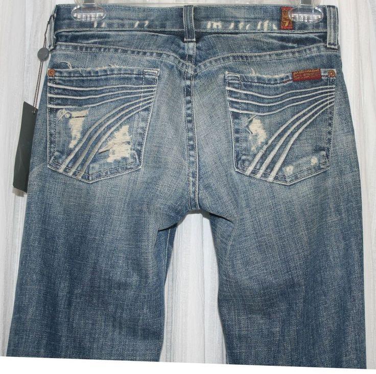 SEVEN 7 FOR ALL MANKIND Jeans Dojo Size 24 Distressed #7ForAllMankind #Dojo