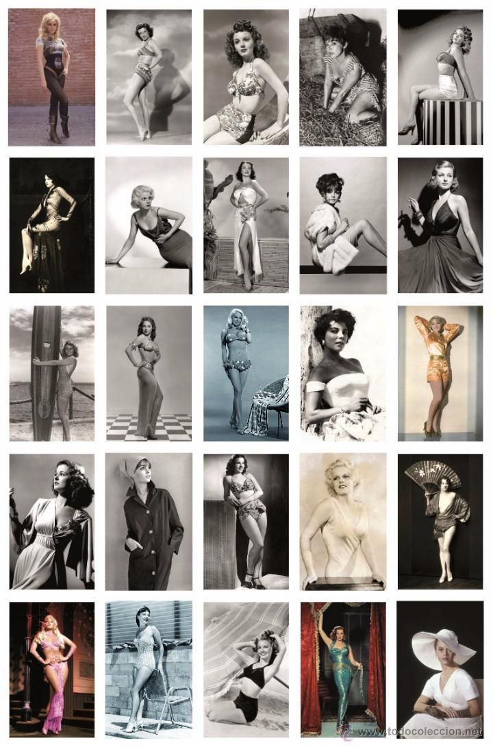 Sexy actress PIN UP postcard collection (RWP cinema) - Box cont. 100 all diff,