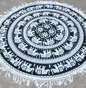 http://tinyurl.com/j8hfckq Roundies @Fairdecor in just $38 USD. Black White Elephant with Hand Knitted Black Tassels Get Great Experience on the Beach.... ... And can USAGE in #BeachSheet #Beachthrow #picnicthrow #tablecloth #Wallhanging #tapestry, #mandalabeachtowel, #elephanttapestry, #whitetapestry, #blacktapestry