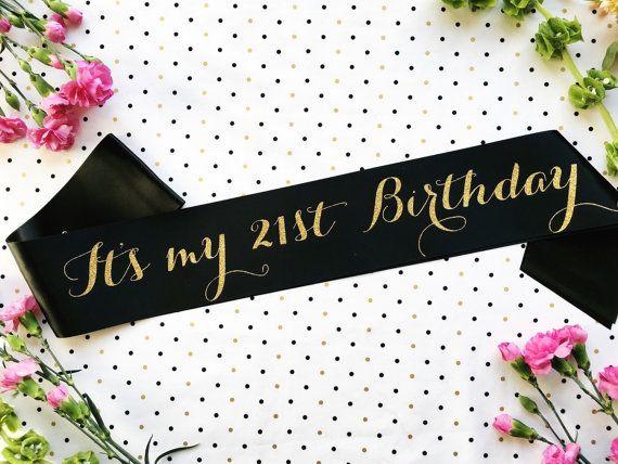 21 Birthday- Finally 21 Sash- Finally Legal Sash- 21st Birthday Sash- 21…