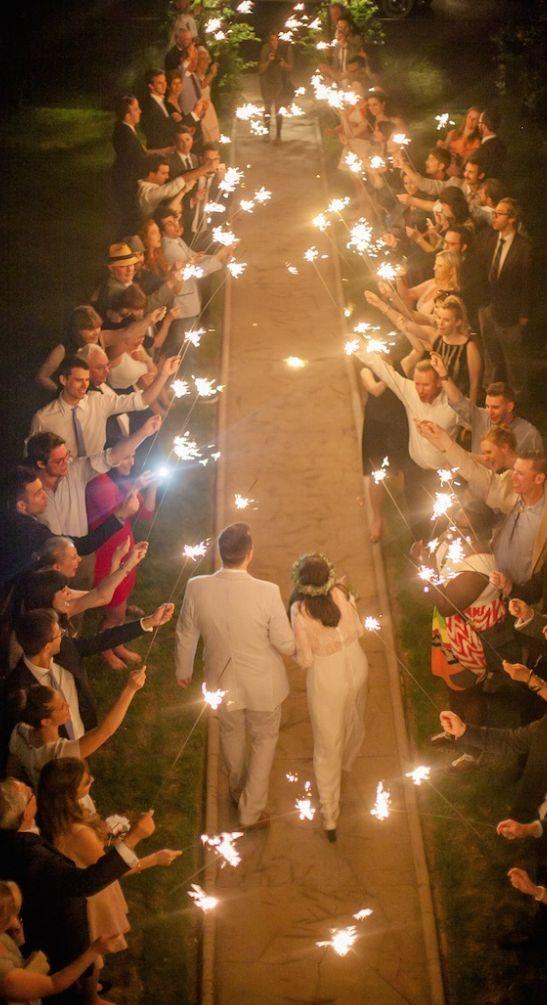 Wunderkerzen zur Hochzeit - Trauung Ideen