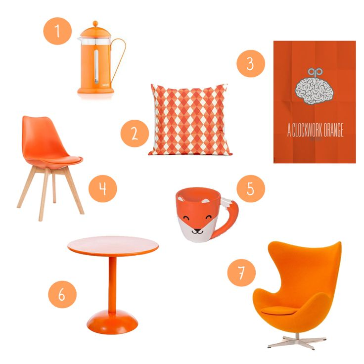 Wishlist orange #orange #couleur #déco #décoration #maison