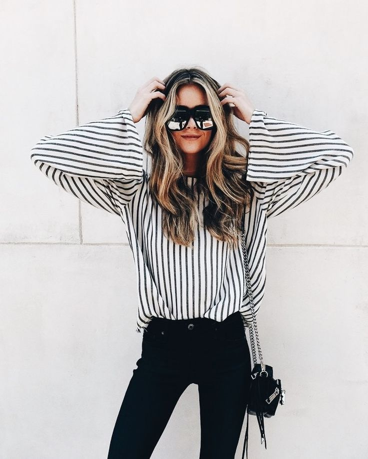 stripes + bell sleeves.