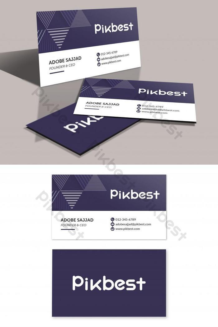 Modern Stylish Purple Business Card Template Psd Free Download Pikbest Business Card Template Psd Business Card Template Simple Business Cards