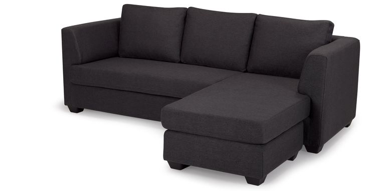 Newark Corner Sofa in charcoal grey