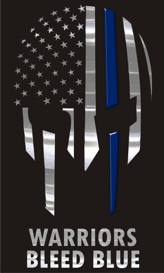 Warriors Blue Blue Thin Blue Line Decal