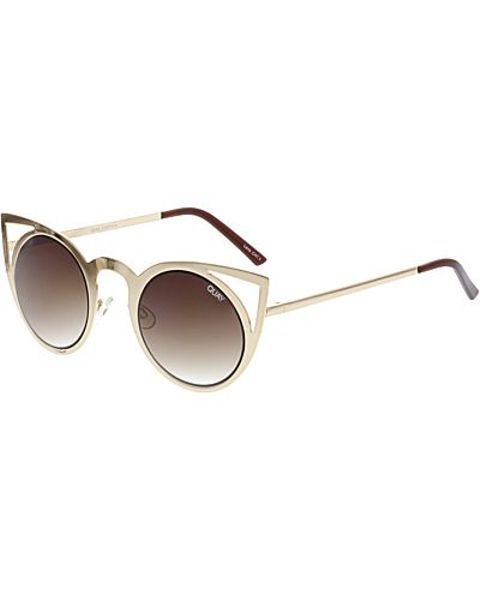 6f743290b89 Quay Women s Mirrored Invader QW-000040-GOLD BRN Gold Round Sunglasses   fashion